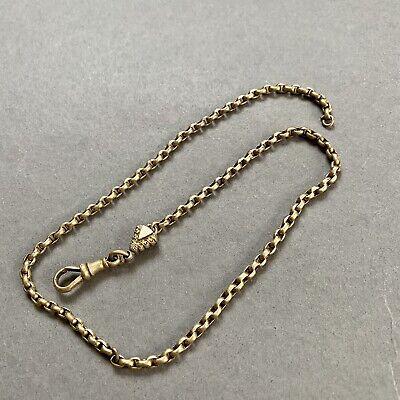 Victorian 9ct Rolled Gold Albertina Albert Pocket Watch Fob Chain T+H