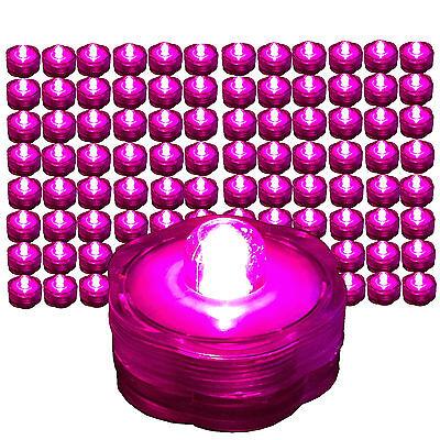 96 HOT PINK LED Submersible Waterproof Wedding Floral Decoration Tea Vase Light