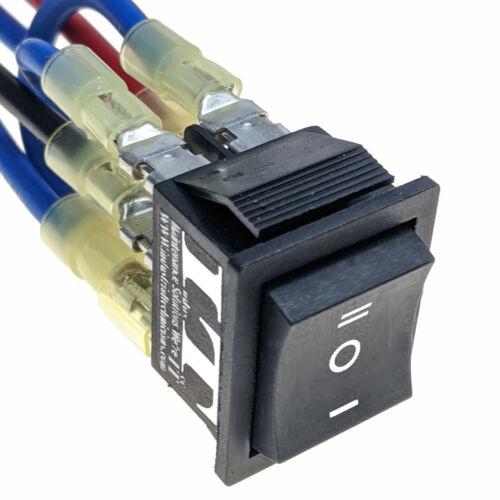 IndusTec DC Momentary Motor - polarity Reversing Rocker switch control DPDT 12v