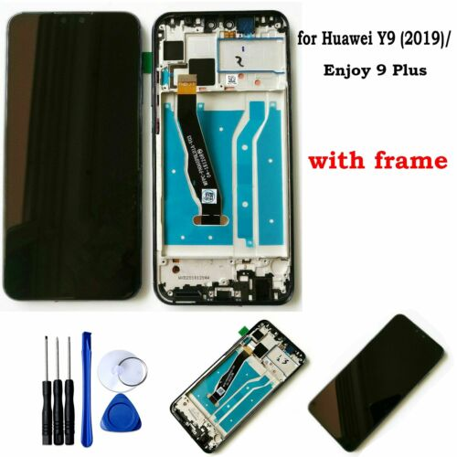 XIAOMIN LCD Screen and Digitizer Full Assembly with Frame for Huawei Enjoy 9 Plus Replacement Part Color : Blue Black Replacement