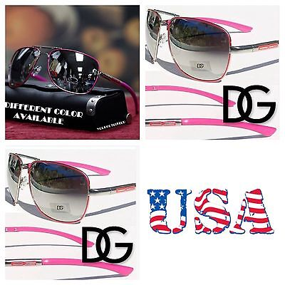 New Women DG Eyewear Aviators Mirrored Fashion Sports Sunglasses  Shade Hot Pink