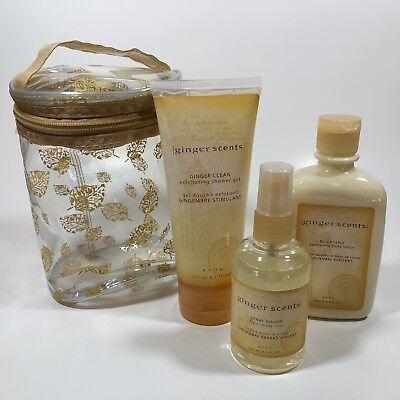 - AVON GINGER SCENTS Gift Set Be Gingerly Lotion Body Mist Spray Shower Gel Exfoli