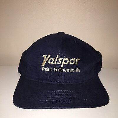 Valspar Paint & Chemicals Strapback Hat Navy Blue Adjustable Cap One Size  for sale  Shipping to Canada