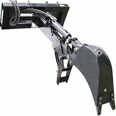 Skid Steer Backhoe Fronthoe Adjustable Bolt On Thumb Excavator Attachment Bobcat