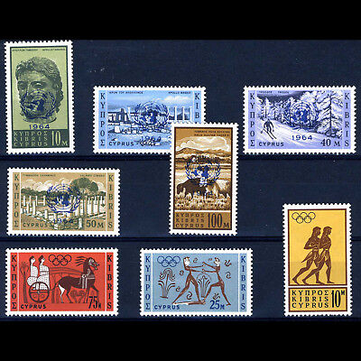 CYPRUS 1964 Security Council & Olympics. SG 237-241 & 246-248. MNH. (AF055)