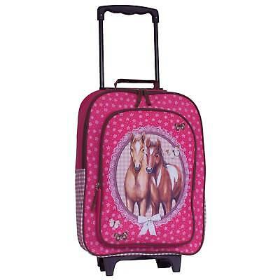 Kindertrolley Pferde Trolley Kinderkoffer Tasche Fabrizio pink 32x42x16/21 cm