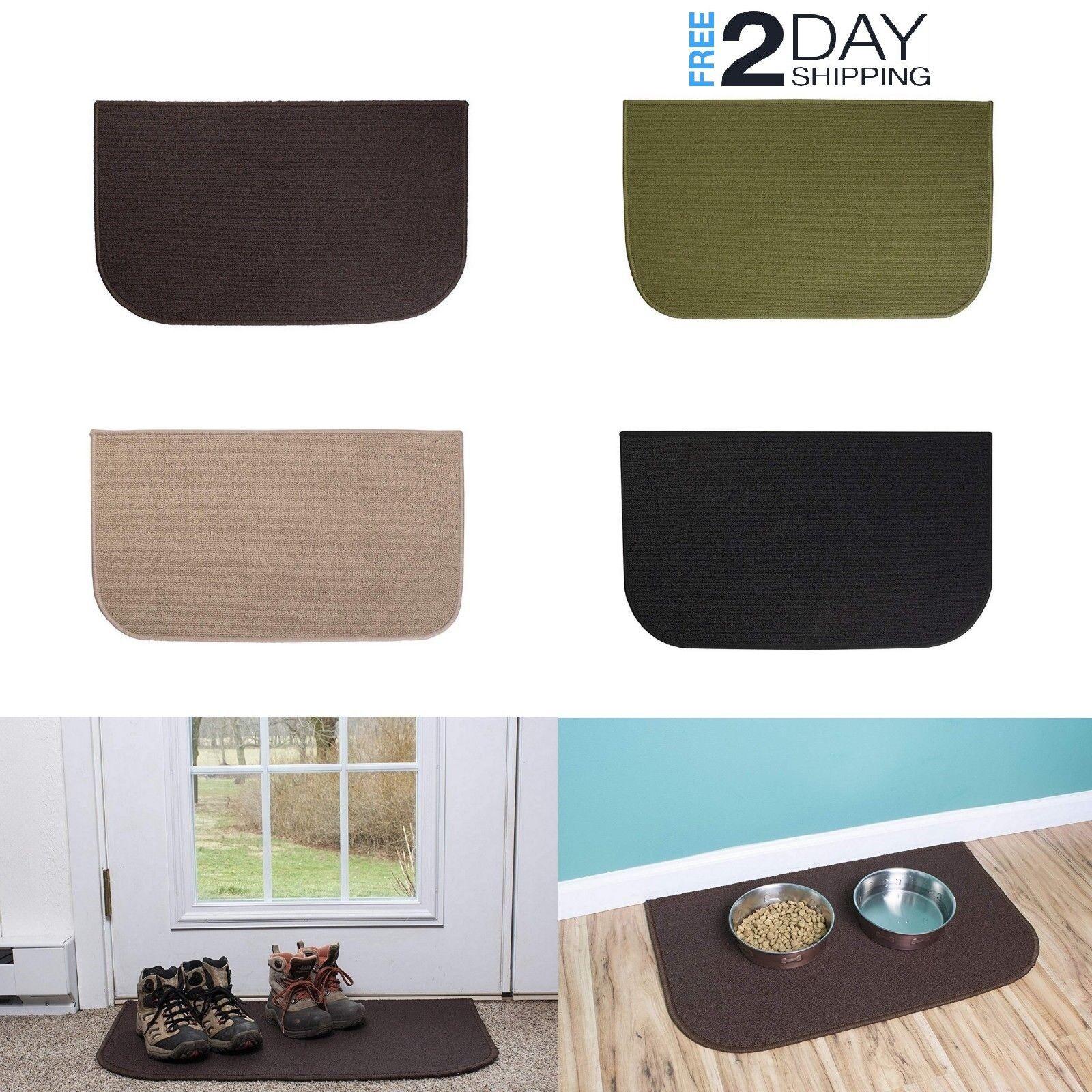 Door Area Mat Carpet Non Slip 18x30 Stain Resistant Accent K