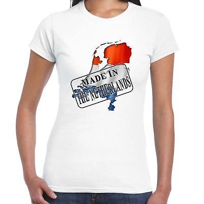 Hergestellt in - die Holland Flagge und Karte - Damen T-Shirt - Country Geschenk