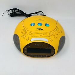 Sony Model ICF-CD831 Psyc Dual Alarm Clock CD Player AM/FM Radio Tested Working