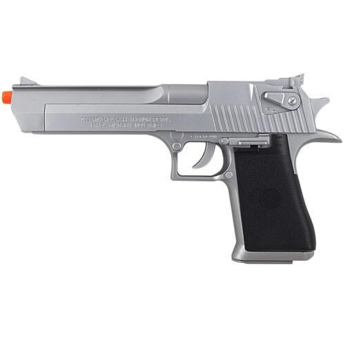 SILVER DESERT EAGLE .50 AE LICENSED SPRING AIRSOFT PISTOL HAND GUN w/ 6mm BB