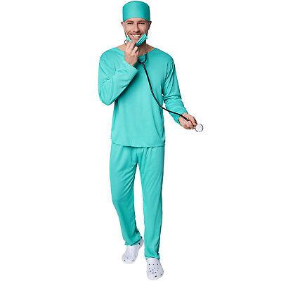 Herrenkostüm OP-Arzt  Halloween Kostüm Karneval Fasching Doktor - Halloween Herren