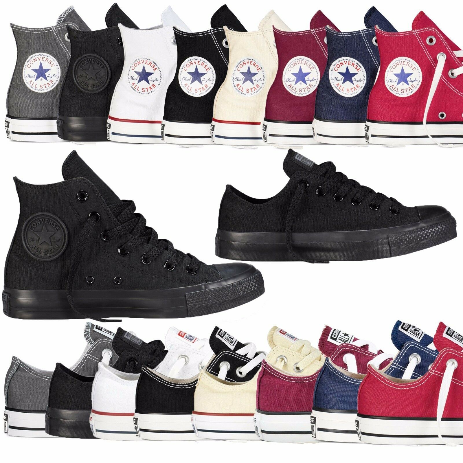 c11246c3a415 Details about Converse Unisex Chuck Taylor Classic Colour All Star Hi Lo  Tops Size Trainers