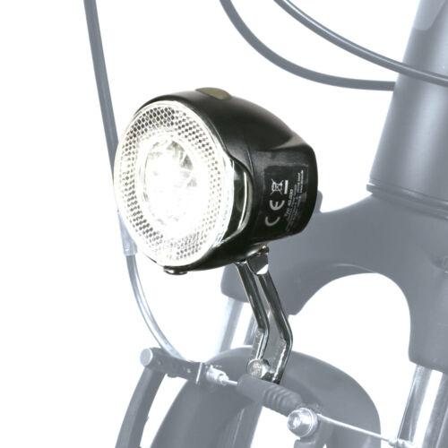 Fahrradlicht Vorderlicht LED-Frontscheinwerfer m. Batteriebetrieb 20 Lux StVZO