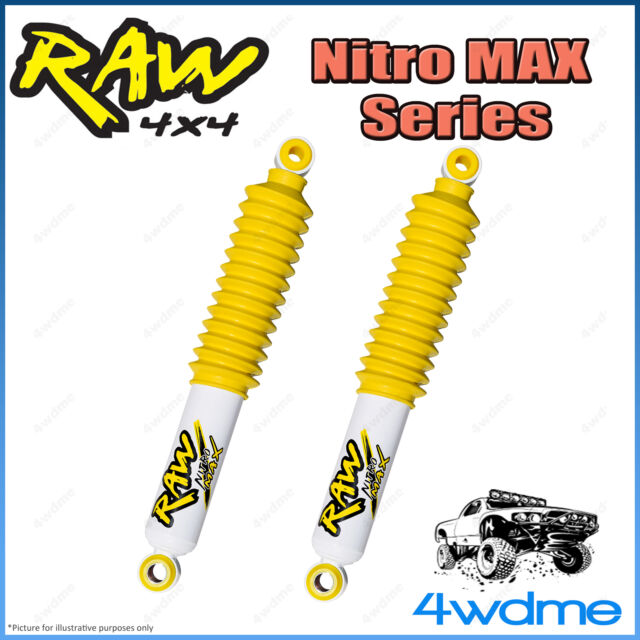 "Toyota Hilux RN106 LN107 RAW Front Nitro MAX Gas Shock Absorbers 2"" 50mm Lift"