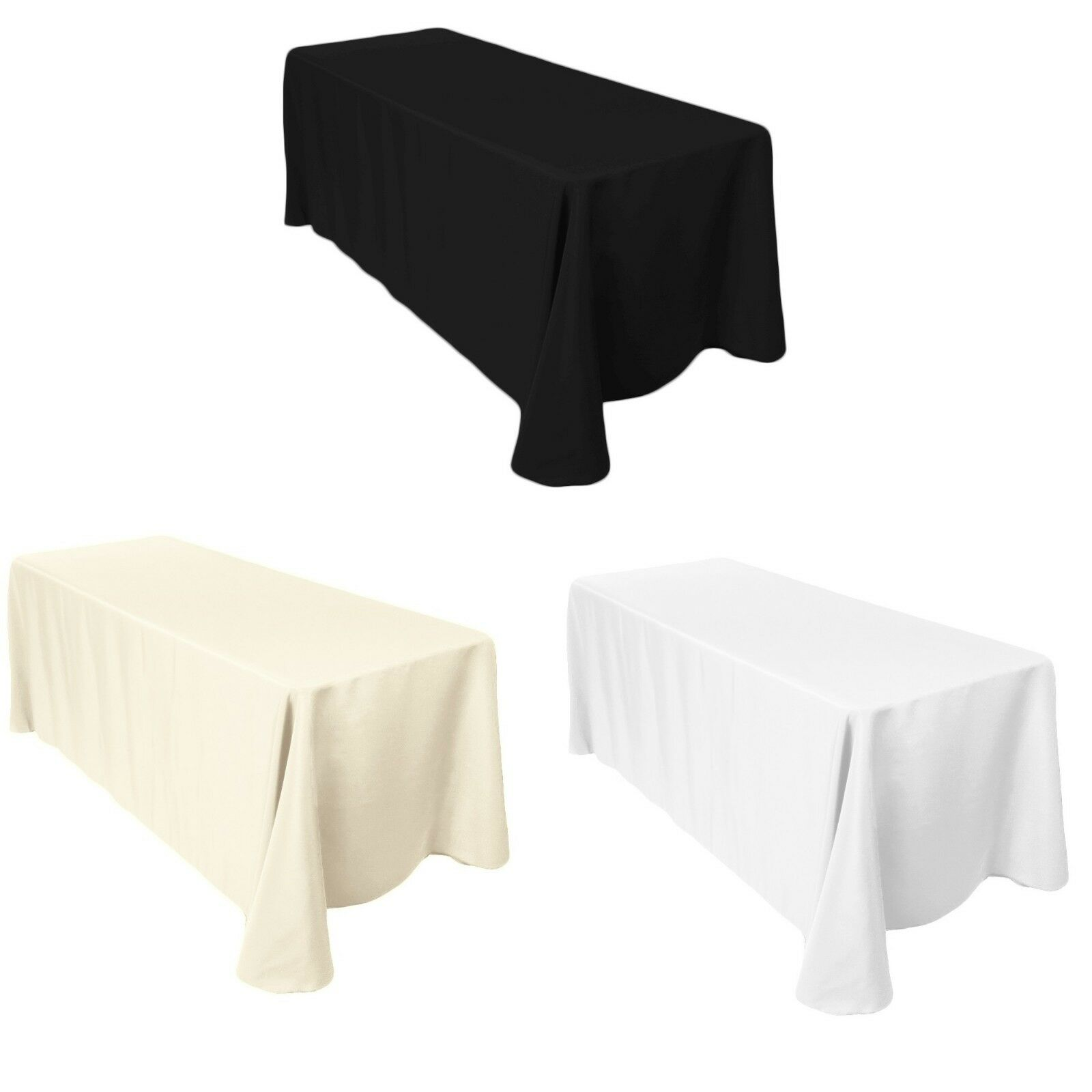 Rectangle Plain Table Cloth Cotton Wedding Dining Tableware