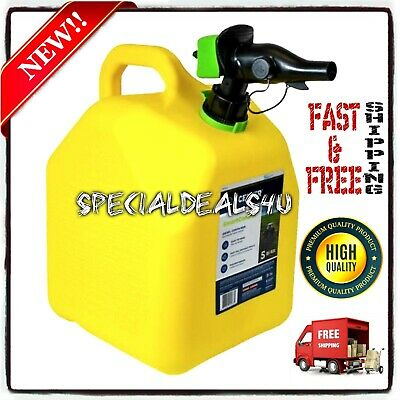 5 Gallon 20l Jerry Can Gas Gasoline Fuel Diesel Army Military Tank Spout Flow