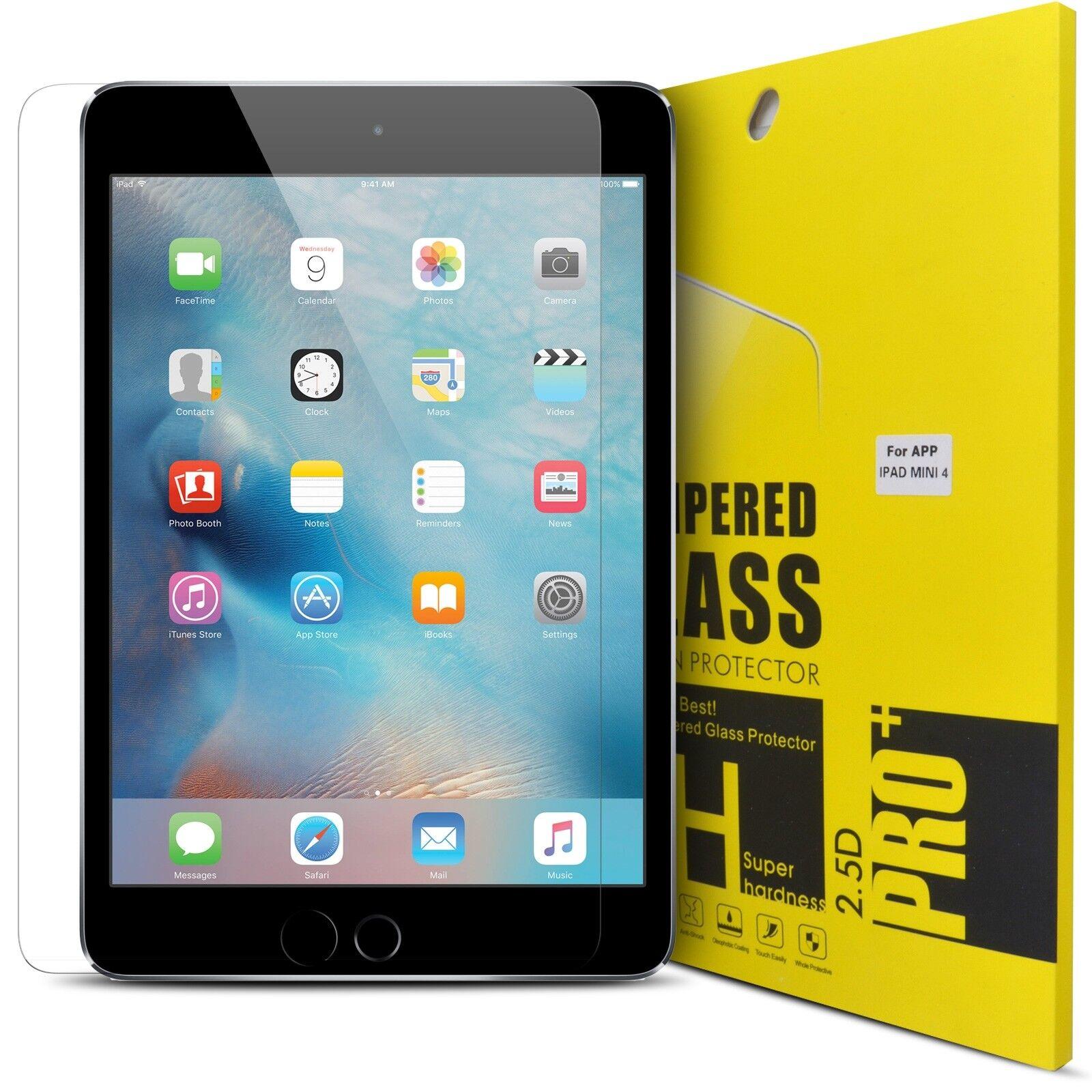 Genuine Tempered Glass Screen Protector Guard For Apple iPad AIR 1 2 Mini 4 PRO