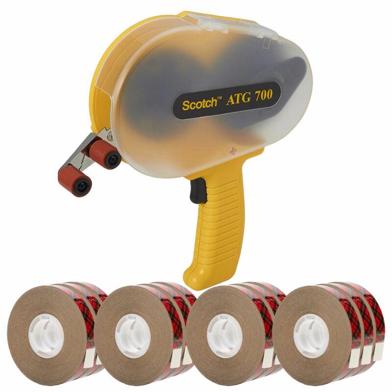 "3M Scotch 700 ATG Applicator + 3M Scotch 924 Tape 1/2"" x 36 yd 12 Rolls"