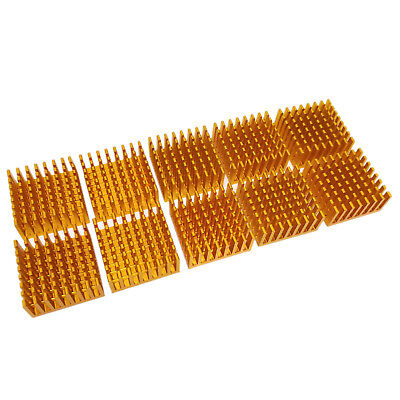 Us Stock 10pcs 28 X 28 X 13mm Heat Sink Cooling Aluminum Heatsink Cpu Ic Led