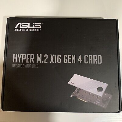 *NEW* ASUS Hyper M.2 X16 PCIe 4.0 X4 Expansion Card Supports 4 NVMe M.2
