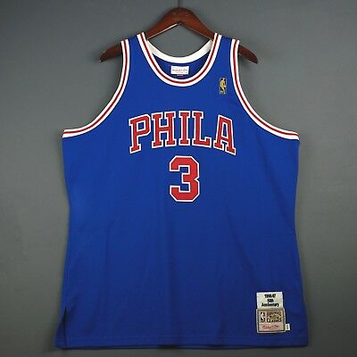 faa5997a8 100% Authentic Allen Iverson Mitchell Ness 96 97 Sixers Jersey Size 52 2XL  Mens