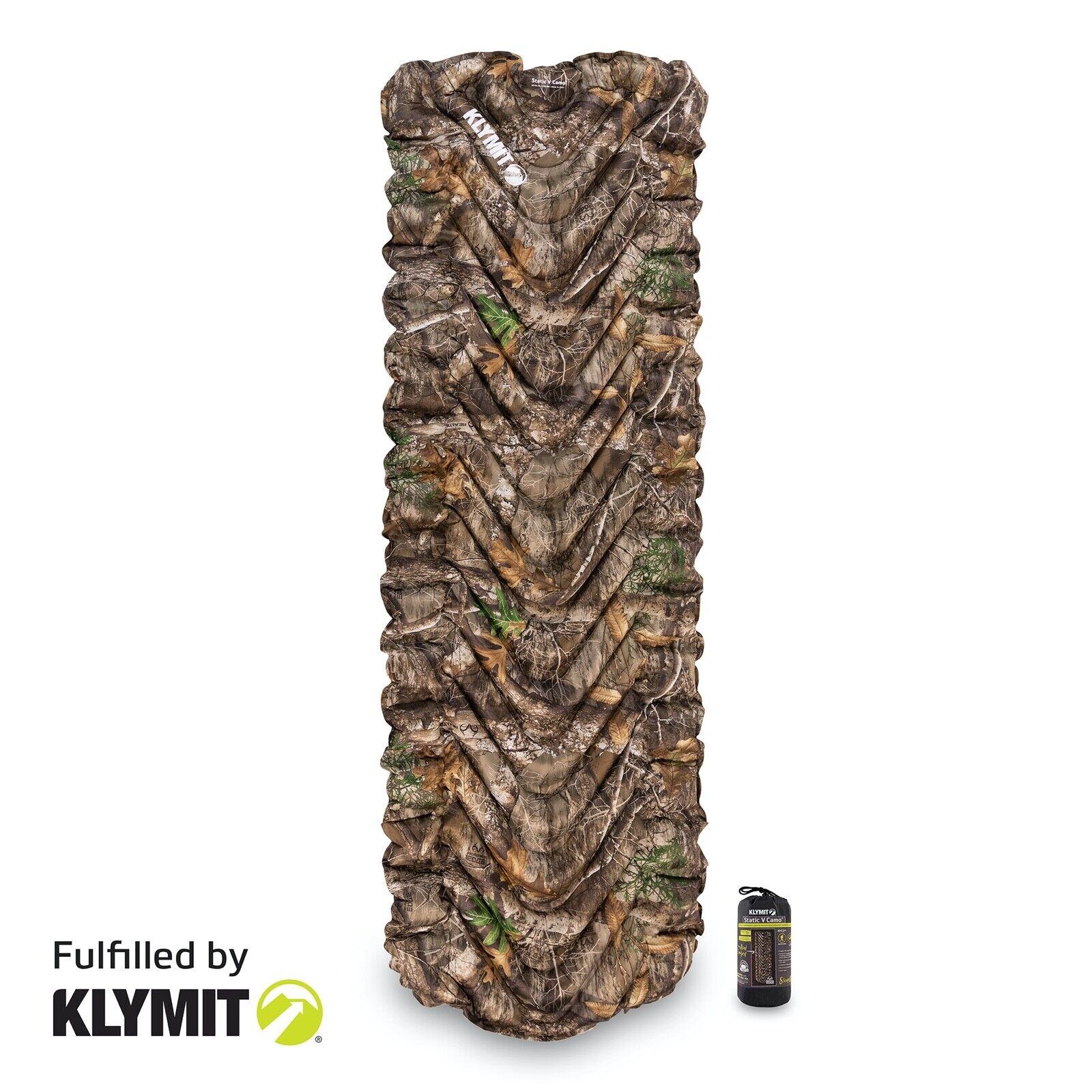 Klymit Static V RealTree Edge Sleeping Camping Pad - Certified Refurbished
