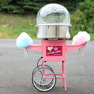 Carnival King Cotton Candy Machine 21 Ss Bowl Dome Cart 110 V 1050 W