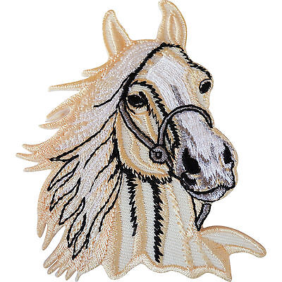 Horse Iron Sew On Patch Clothes Jacket T Shirt Bag Pony Riding Embroidered Badge