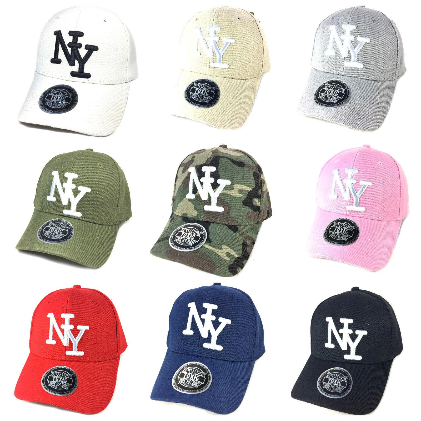 Basecap NY Baseball Cap Kappe Base Caps curved gebogener Schirm TOXIC Sommer
