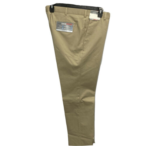 Roundtree & Yorke Travel Smart Ultimate Comfort Straight Fit Khaki Pants 46×32 Clothing, Shoes & Accessories