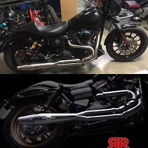 Red thunder exhaust pipes for Harley