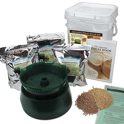 SPROUTED GRAIN WHOLE WHEAT BREAD MAKING KIT - CERTIFIED ORGANIC - FROM SCRATCH