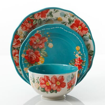 - Vintage Floral 12Pc Dinnerware Set The Pioneer Woman Stoneware Dishwasher Safe