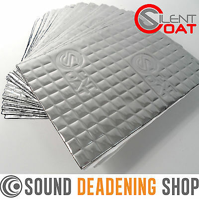 Silent Coat 2mm 30 Sheets Pack Car Van Deadening Sound Proofing Damping Mat