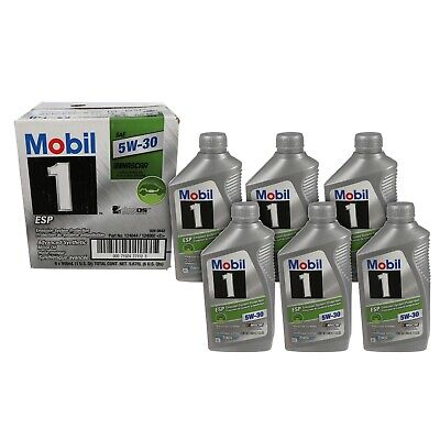 NEW Volkswagen RECOMMENDED 5W-30 Mobil1 Mobil 1 ESP Engine Motor Oil CASE OF 6 comprar usado  Enviando para Brazil