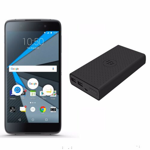 Blackberry DTEK50 Unlocked GSM 4G LTE Android Black Phone w/ Power Bank