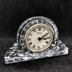 Godinger Clock Crystal Legends Mantel Vanity 6 Inches Wide 4 Inches High