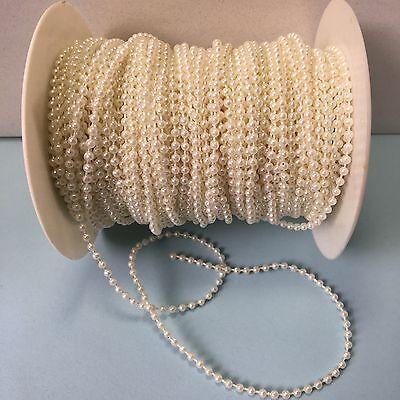 (3 mm Pearl Ribbon - May Arts -  KP09 - Ivory Pearls- 5 yards)