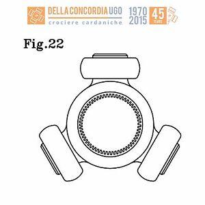 CROCIERA-TRIPODE-26x43-2x14-5x22-FIAT-STILO-LANCIA-LYBRA-THESIS-CR-528