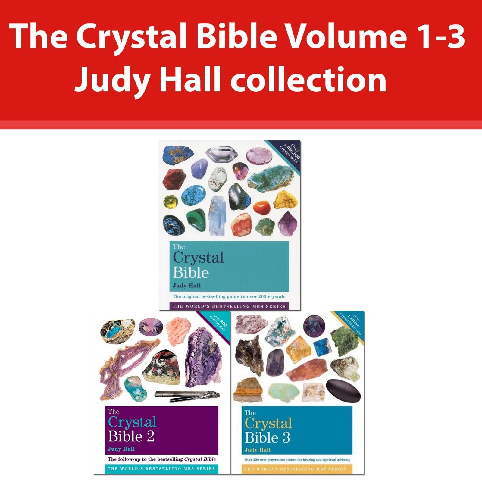 The Crystal Bible Volume 1-3 Judy Hall Collection 3 Books Set Godsfield Bibles