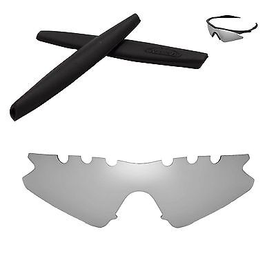 86cd7d0d2637 WL Polarized Titanium Vented Replacement+Black Earsocks for Oakley M Frame  Sweep