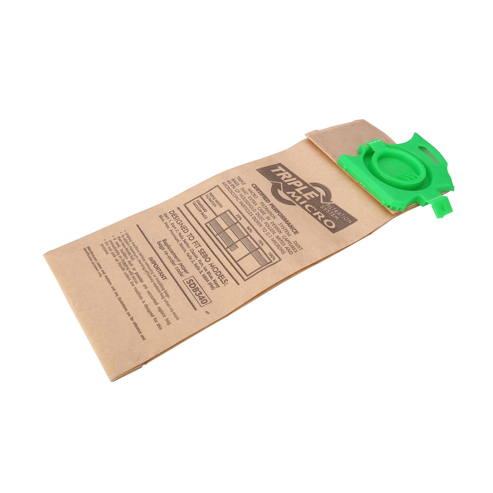 Sebo Dart //Felix Vacuum Cleaner Bags x 20 Genuine 4010 Cleaning Janitorial