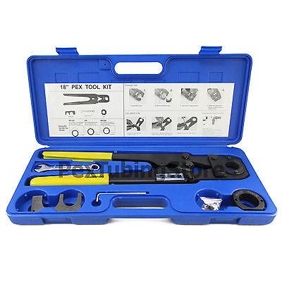 Pex Crimp Tool Kit For 1 And 1 14 Pex Tubing.