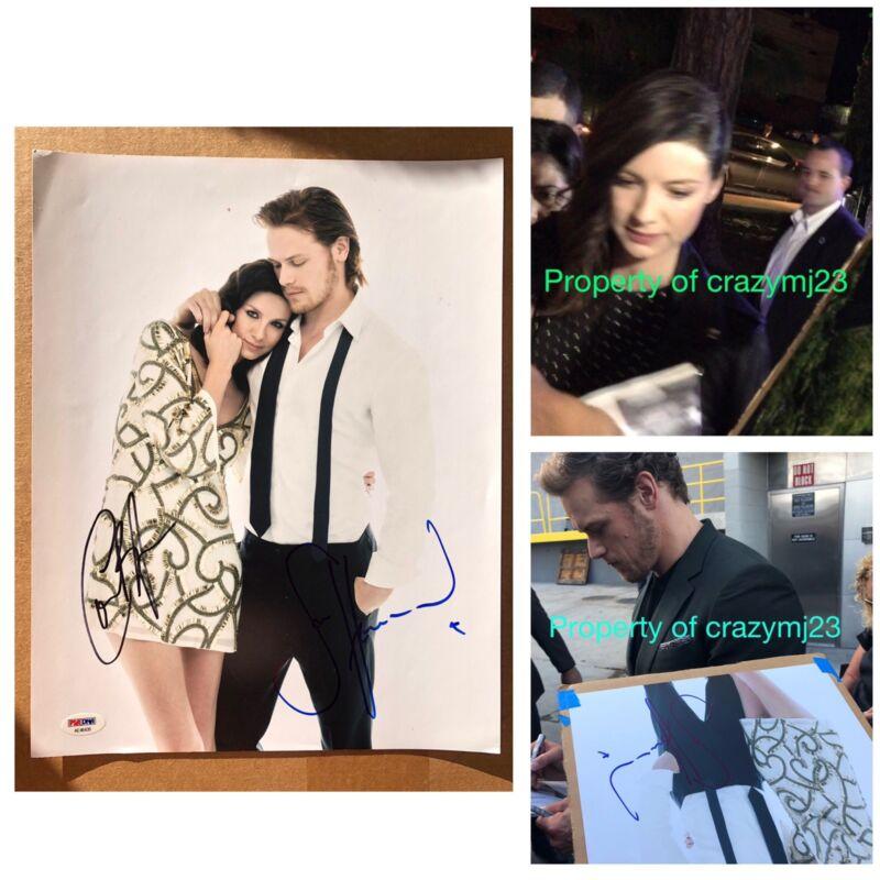 Caitriona Balfe Sam Heughan Signed Outlander Starz 11x14 Autograph Auto PSA COA