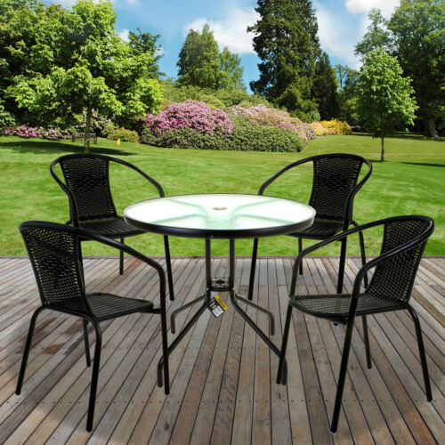 Garden Furniture - GARDEN FURNITURE SETS OUTDOOR PATIO SEATS GLASS TABLES & WICKER CHAIRS PARASOL