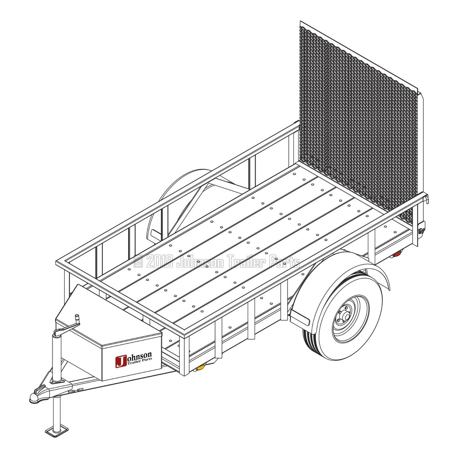 4′ x 8′ Utility Trailer Plans – 3,500 lb Capacity | Trailer Blueprints
