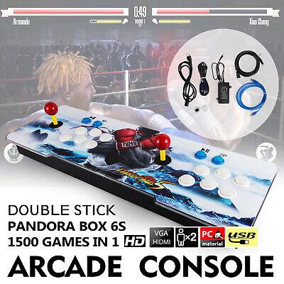 Original Pandora's Box 6S 1500 in One Double Stick Retro Arcade Console Support