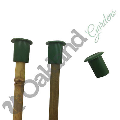 500 x Large Rubber Garden Cane Cap Protectors Top Eye Protection Bamboo >18mm