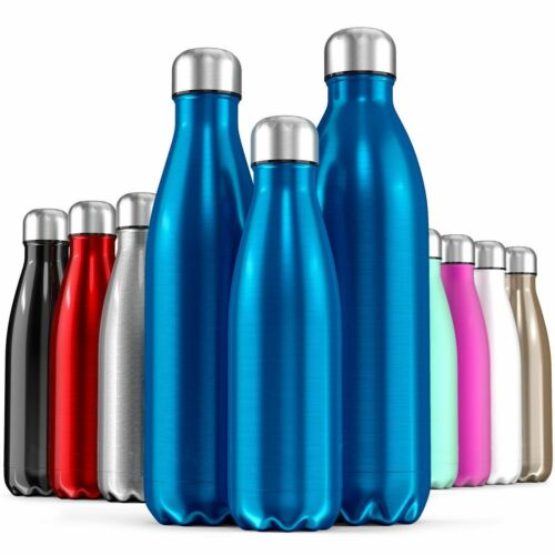 750ML Insulated Flask Vacuum Water Bottle Thermos Stainless