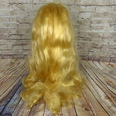 tume Wig Wavy Long Hair Cosplay Theater Center Part (Blonde Halloween)